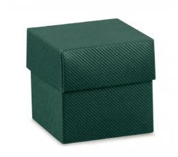Kinkekarp - ruudukujuline / roheline (1 tk / 50x50x50 mm)