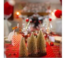 """Kaunistus """"Jõulupuud kännul"""", šampanja (1 tk / 18x20 cm)"""