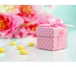 Kinkekarbid, roosad täpilised (10 tk)