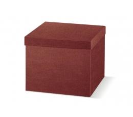 Kinkekarp kaanega, bordoo (29X29X24 cm)