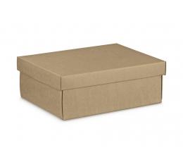 Kinkekarp koos kaanega, craft (24X20X9,5 cm)