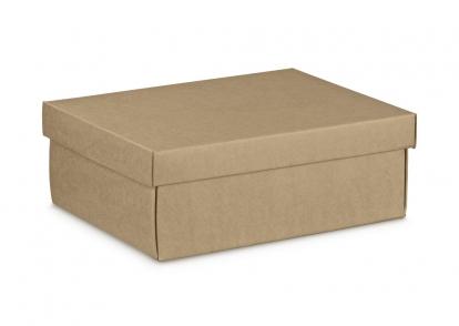 Kinkekarp koos kaanega,kraft (34X25X12 cm)