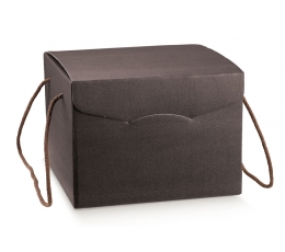 Kinkekarp nööridega, pruun (24X24X18 cm)