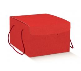 Kinkekarp nööriga, punane (29X35X19 cm)