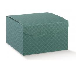 Kinkekarp, roheline, kaunistustega (22X22X23 cm)