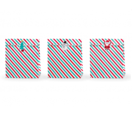 """Kinkekotid """"Jõulud"""". paberist (3 tk./25x27 cm)"""