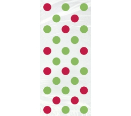 Kinkekotid, punaste-roheliste täppidega (20 tk)