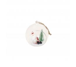 Klaasist dekoratsioon koos jõuluvanaga (7x6,5x8 cm)