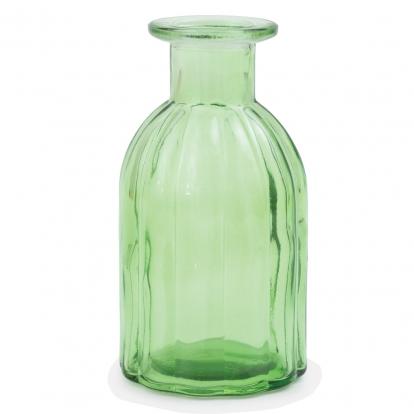 Klaaspudel - vaas, salatiroheline (13,5 cm)