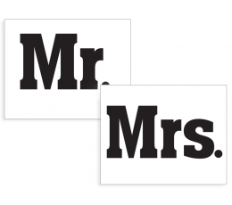 "Kleebised kingadele ""Mr & Mrs"" (2 tk.)"