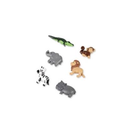 """Kleebitavad 3D dekoratsioonid """"Džungli loomad"""" (6 tk./ 3,5 cm)"""