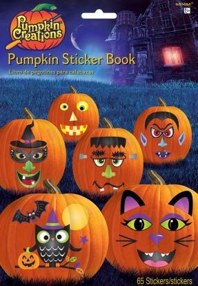 """Kleepsuraamat """"Halloweeni kõrvitsad"""" (65 kleebist)"""