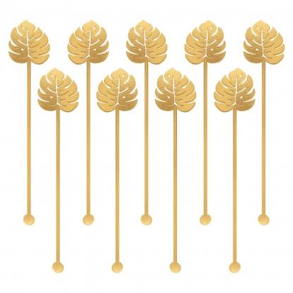 Kokteilipulgad, kuldsed palmid (12tk/9cm)