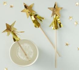 """Kokteilipulgad """"Kuldsed tähed"""" (15 tk.) 1"""