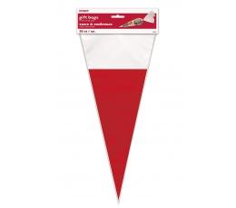 Kolmnurksed kotid, punane-valge (20 tk)