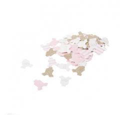 """Konfetid """"Beebitüdruk"""", roosa-kuldne (100 tk./3 cm)"""