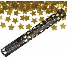 """Konfetikahur """"Kuldsed tähed"""" (60 cm)"""