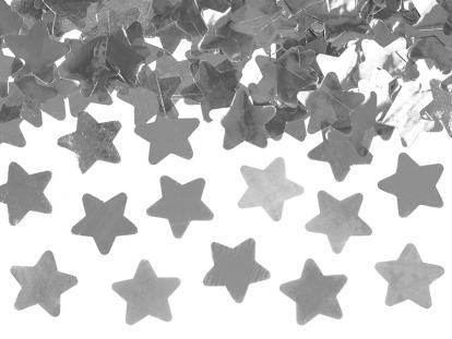 """Konfetikahur """"Hõbedased tähekesed"""" (40 cm)"""