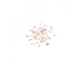 """Konfetid """"Jänkud"""", roosa-kuldsed (120 tk / 1,3-2,5 cm)"""