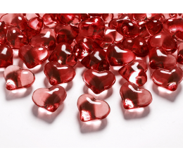 """Konfetid - kristallid """"Punased südamed"""" (30 tk / 21 mm"""