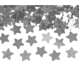 """Konfetikahur """"Hõbedased tähekesed"""" (60 cm)"""