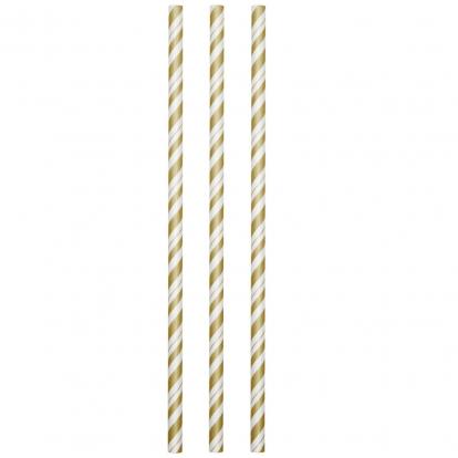 Kõrred, kuldse triibulised - painduvad (24 tk)