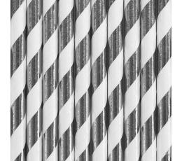 Kõrred, laiad triibulised,  hõbedased (10 tk)