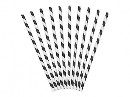 Kõrred, mustad - laia triibulised (10 tk.)