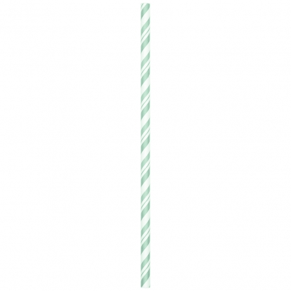 Kõrred, piparmündi värvi-triibulised, painduvad (24 tk.)