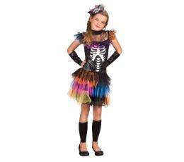 """Kostüüm """"Värviline skelett"""" (7-9 m.)"""