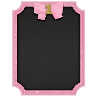 """Kriiditahvel """"1-ne sünnipäev"""", roosa"""