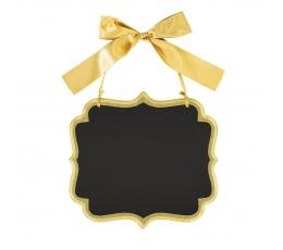 Kriiditahvel, riputatav- kuldne (25x23 cm)