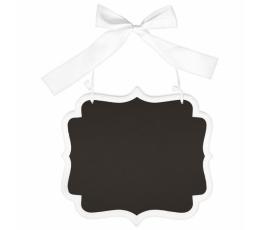Kriiditahvel -  valge riputatav  (25x23 cm)