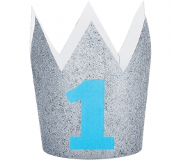 """Kroon """"1-ne sünnipäev"""" hõbe-sinine"""