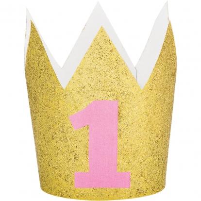 """Kroon """"1-ne sünnipäev"""", kuldne-roosa"""