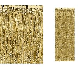 Kuldne fooliumkardin (90x250 cm)