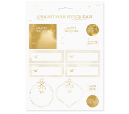 Kuldsed jõulukleebised (10 tk)