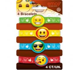 """Kummist käepaelad """"Emoji"""" (4 tk.)"""