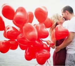 """Kummist õhupallid """"Punane süda"""" (50tk / 38cm) 0"""