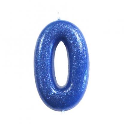 """Küünal """"0"""", sinine läikiv"""