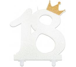 """Küünal """"18"""" krooniga, valge (15 cm)"""