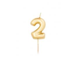 """Küünal """"2"""", kuldne (8 cm)"""