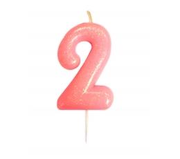 "Küünal ""2"", roosa läikiv"