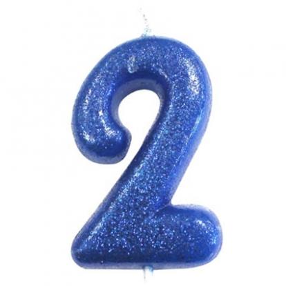 """Küünal """"2"""", sinine läikiv"""