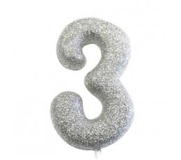 """Küünal """"3"""", hõbedane"""