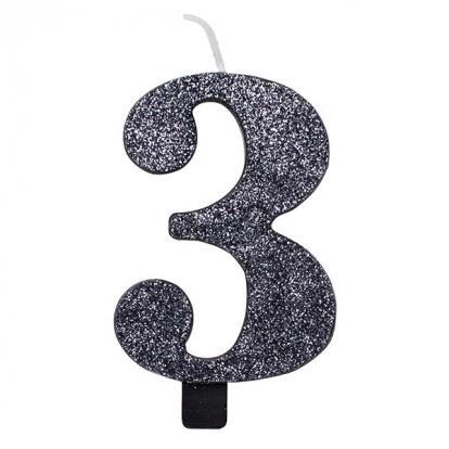 """Küünal """"3"""", must läikiv"""