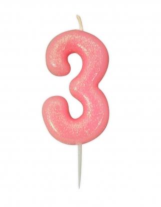 "Küünal ""3"", roosa läikiv"