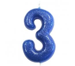 """Küünal """"3"""", sinine läikiv"""