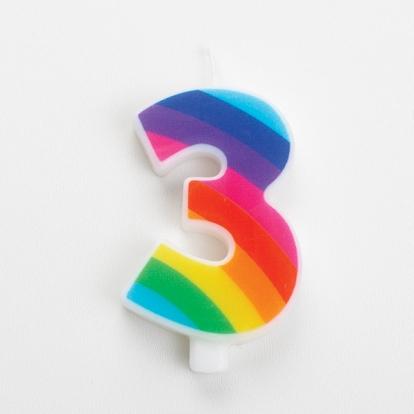 """Küünal """"3"""", vikerkaarevärvi, särisev"""