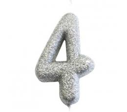 """Küünal """"4"""", hõbedane"""